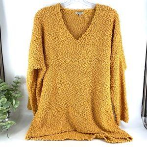 New! Mustard Popcorn Knit Oversized Sweater